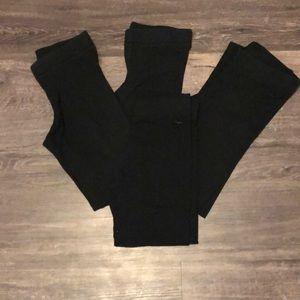 VS-PINK basic essential black leggings lot - XS